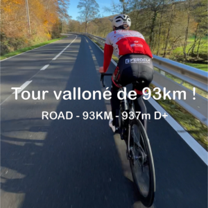 tour valloné au départ du Maillon 93 km