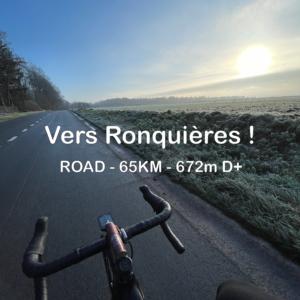 vers ronquieres 65km